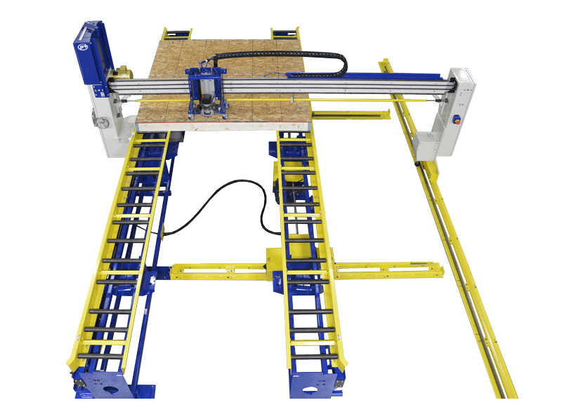 Wood Wall Squaring & Routing Station with Manual X-Y Router Bridge