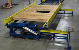 Wall Panel Laying Flat on Pneumatic Tilt Table