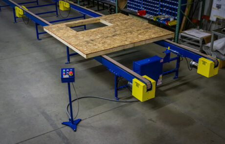 Power Conveyors Moving Wood Wall Panel